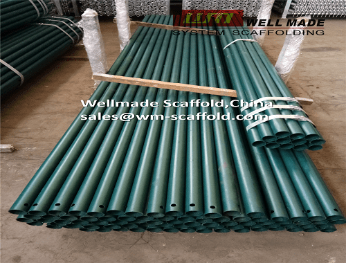 Painted Scaffold Tube Poles