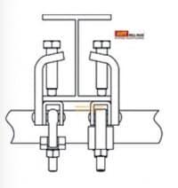 cách sử dụng kẹp dầm giàn giáo - kẹp ống đồng ghép dầm - gắn dầm thép tiết diện vào ống giàn giáo kích thước 48_3mm giàn giáo xây dựng