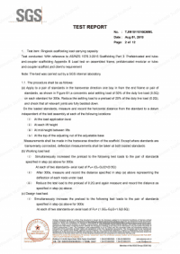 Ringlock Scaffolding AS 1576 Test Report