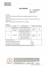 EN 12810 Standard Ringlock Scaffolding Test Report CE