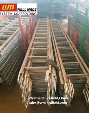 steel scaffolding ladder with hook for tube and clamp