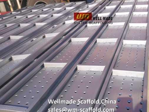 Plain End Steel Scaffold Board Metal Decks