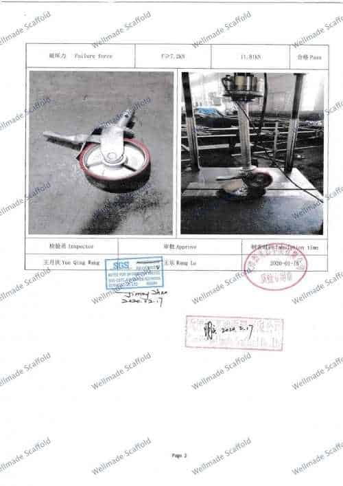 Castor Wheel Test Report 2