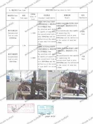 EN 12810 Scaffold Boards Test Report 1