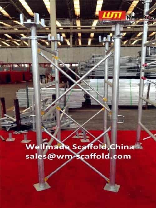 h Frame scaffolding shoring system