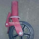 scaffold caster wheel with socket tube spigot