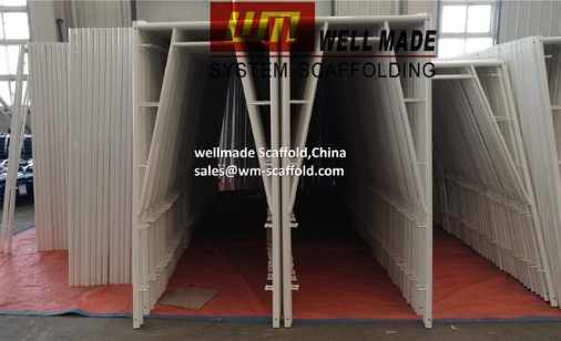 snap on scaffolding stucco plaster scaffold frame 4