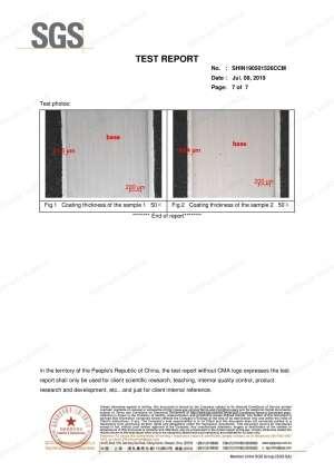 Scaffold Metal Board Test Report