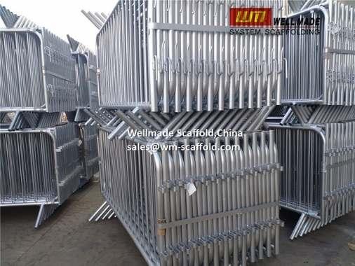 Crowd Control Barriers Wellmade Galvanized Steel Crowd Barrier Barricades