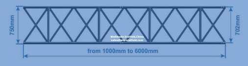 750mm alloy beam aluminium scaffold beams