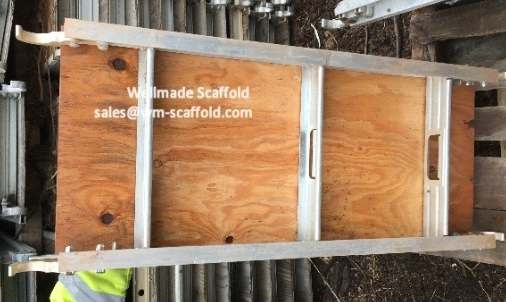 Aluminium Plank with plywood surface