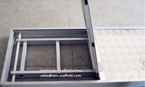Aluminum Plank with trap door integrated access platform