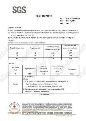 BS 2482 Wood Scaffold Board Test Report 3