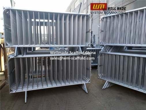 Crowd Control Barriers Wellmade Galvanized Steel Crowd Barrier Barricades.jpg