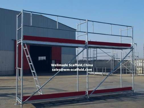 Plettac scaffolding for Facade Scaffold Construction