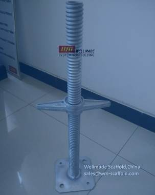 Round Threaded Screw Jack Base for Ringlock Scaffolding Layher Allround