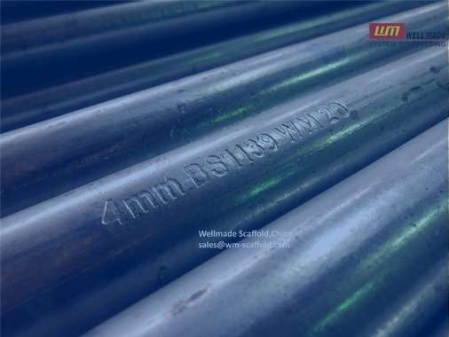 Scaffolding Pipe with Marks BS 1139 Standard 4mm Scaffolding pipes