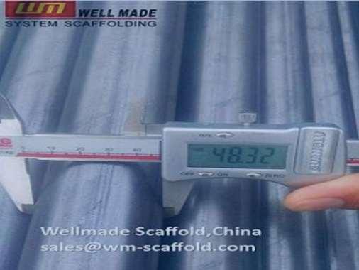Scaffolding Pipes OD48.3mm Black Scaffold Tub