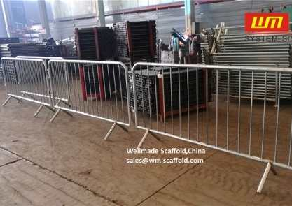 Crowd Control Barrier Mock Up Inspection Quality Control