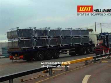 Crowd Control Barrier on Truck Transportation
