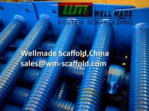 cuplock scaffolding adjustable screw jack base