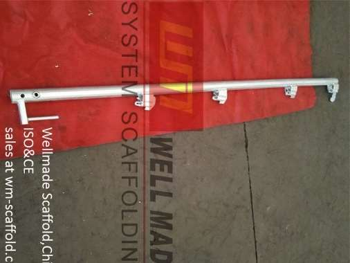 layher frame scaffolding guard rail post with transom
