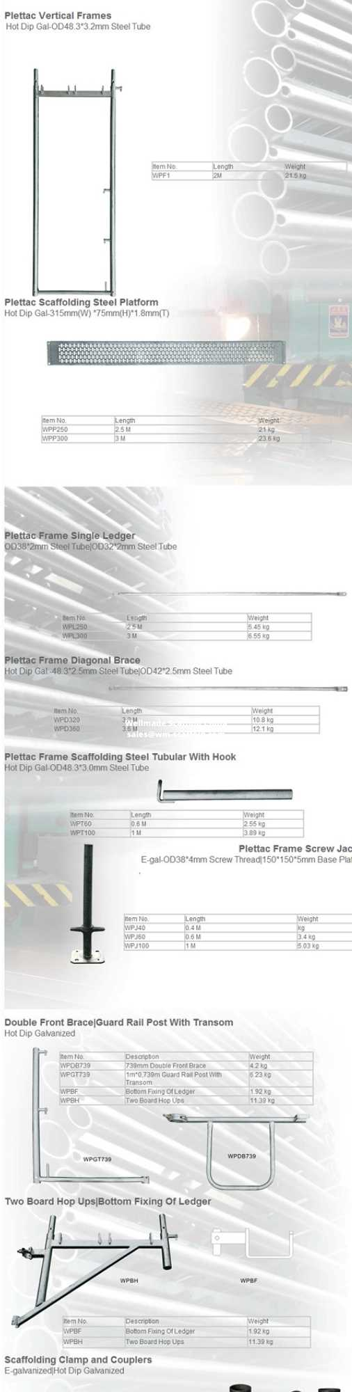 plettac scaffolding frame -altrad scaffolding germany-euro scaffolding parts list