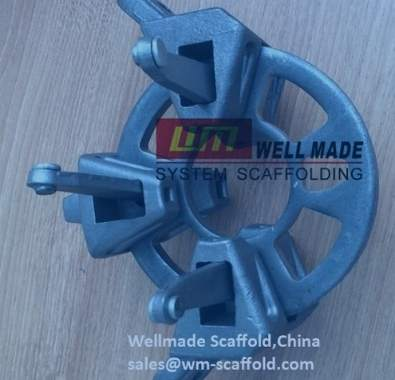 ringlock scaffolding rings and ledger head with wedge pin
