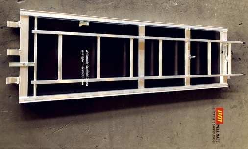 aluminium plywood platform with trap door and aluminium ladder for catwalk scaffolding