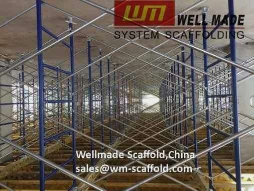 shoring frame scaffolding system in construction