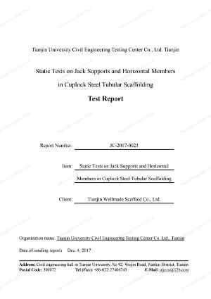 Cup Lock Scaffold Data Sheet 1