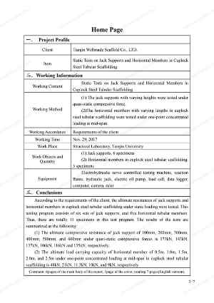 Cup Lock Scaffold Data Sheet 2