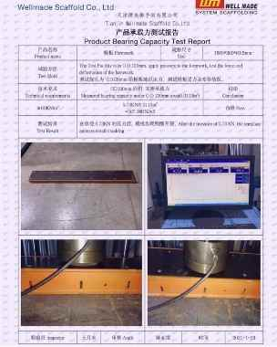 Euro Form Formwork Load Test Report Technical Data