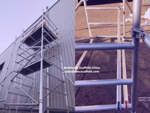 aluminium scaffold tower-aluminum scaffolding-baker scaffold-mobile scaffold-indoor light weight wellmade scaffold